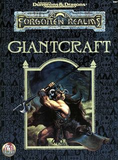 FOR7 Giantcraft (2e) - Forgotten Realms | Book cover and interior art for Advanced Dungeons and Dragons 2.0 - Advanced Dungeons & Dragons, D&D, DND, AD&D, ADND, 2nd Edition, 2nd Ed., 2.0, 2E, OSRIC, OSR, d20, fantasy, Roleplaying Game, Role Playing Game, RPG, Wizards of the Coast, WotC, TSR Inc. | Create your own roleplaying game books w/ RPG Bard: www.rpgbard.com | Not Trusty Sword art: click artwork for source