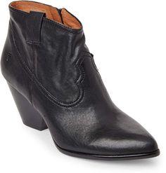 737dc6d84 Frye Black Reina Leather Booties