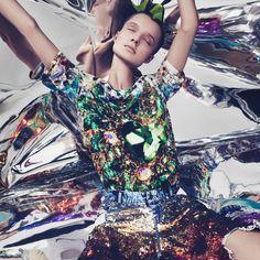 Metallic colour palette, Niko Mitrunen and Grace Joel for Volt Magazine | Fashion editorial