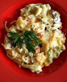 Chicken Spaghetti Casserole #recipe