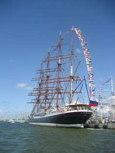 The Sedov - The world's biggest sailing ship. I visited this ship, among several others, in 2002, in the port of Santander, Spain.