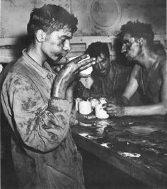 """The Marine's Secret Weapon: Coffee - """"Battle-weary Marines of the 22nd Regiment drank coffee after heavy fighting on Einwetok Atoll in the Pacific Theater in February 1944."""" : atwar.blogs.nytimes"""