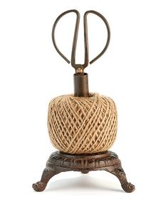 Look at this #zulilyfind! Antique String & Scissors Table Décor Set #zulilyfinds