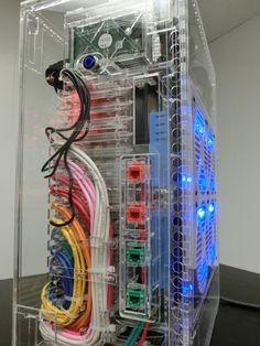 Raspberry Pi supercomputer! A 40-node computing cluster by David Guill.