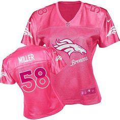 Women s Nike Denver Broncos  58 Von Miller Game Pink 2012 Fem Fan Jersey   79.99 Peyton d0b276bde