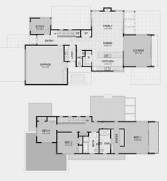David Reid Homes - Contemporary House Plans, Modern House Plans, House Floor Plans, House Plans 2 Storey, Storey Homes, House 2, Family Room, New Homes, House Design