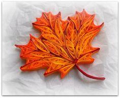 Кленовый лист в технике квиллинг
