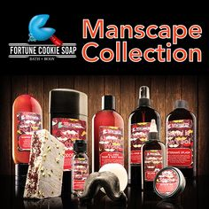 Save 10% when you buy the ENTIRE Manscape Collection at once. Eleven, full-sized products. Limited Quantity $95.22  THE OVERACHEIEVER   ADDISON Fortune Cookie Soap  BEARDED FOR HER PLEASURE Beard Oil  KINGSLAYER All-Over Body Spray  MANSCAPE Shave Soap  MORNING WOOD All-Over Hair & Body Wash  PORN STACHE Mustache Wax  POSY RALM OCD Hand Sanitizer  SHAVE IT AIN'T SO! After Shave Splash  SHAVE IT FOR LATER Shave Cream  STUD STICK Aluminum-Free Deodorant