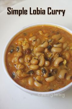 15-Minute Lobia Curry Recipe - Black Eyed Peas Curry Recipe