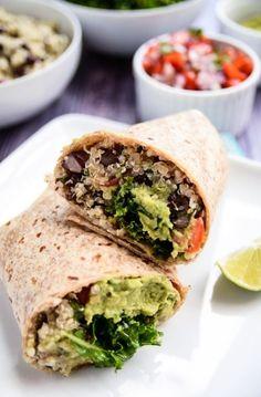 Protein-Burritos mit Quinoa