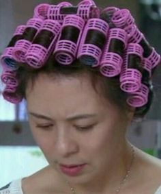 Sleep In Hair Rollers, Hair Curlers Rollers, Asian Perm, Bobe, Roller Set, Coiled Hair, Tangled, Rollers In Hair