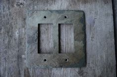 Slate Switchplate Double GFCI GFI Rocker Decora Vermont Rustic by VermontSlateArt on Etsy