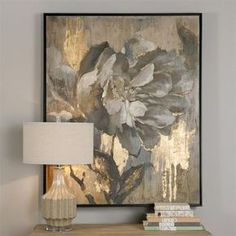 Hair-raising Wall Art Masterpieces that will arouse you! Wall Art - Elegant Flower Artwork With Metallic Gold Highlights Source: Painting Frames, Art Paintings, Painting Prints, Painting Tips, Living Room Paintings, Painting Doors, Art Frames, Bathroom Paintings, Modern Paintings
