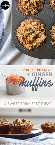 This sweet potato and ginger muffin recipe delivers the perfect amount of sweet while still being healthy. Make some for Mother's Day and your breakfast will be at its best!