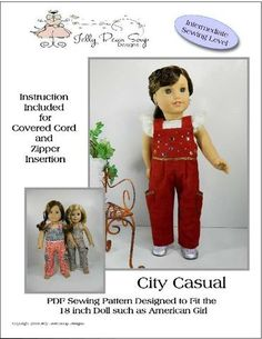 """City Casual Jumpsuit 18"""" Doll Clothes"""