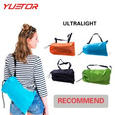 Yuetor Beach lay bag Hangout sleep Air Bed Lounger laybag Outdoor fast inflatable folding sleeping lazy bag-in Sleeping Bags from Sports & Entertainment on Aliexpress.com | Alibaba Group