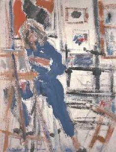 """Title: """"Self Portrait""""  Technique: Acrylic on linen  Date: 1989  Size: 30x40 cm.  Private collection"""