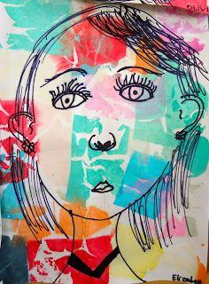 Self portrait face proportions lesson for kids