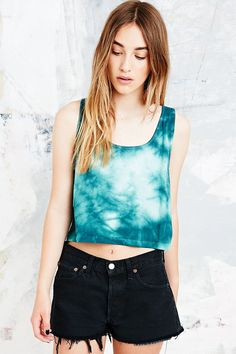 Love this, and UO in general: Tie-Dye Racerback Tank in Washed Green