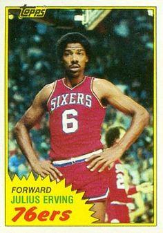julius erving basketball cards | 1981 Topps Julius Erving #30 Basketball Card