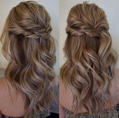 Stunning half up half down wedding hairstyles ideas no 106