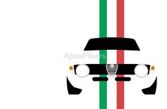 Simplistic Classic Italian coupe with verticle Italian stripes by ApexFibers