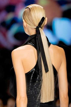 The Most Anticipated Hair Trends For Spring 2013 - The New Low Pony - Etro