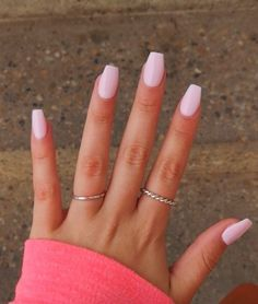 Gel Nail Light, Light Pink Acrylic Nails, Pink Gel Nails, Simple Acrylic Nails, Best Acrylic Nails, My Nails, Light Nails, Nails Rose, Light Colored Nails