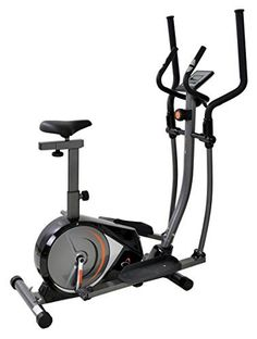 V-fit MMCE-1 Manual Magnetic 2-in1 Cycle Cross Trainer - Gloss Black/Gunmetal Grey
