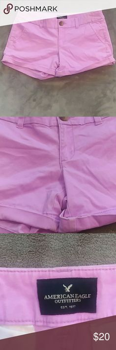 AEO women's size 4 midi stretch purple shorts AEO women's size 4 midi stretch purple shorts. American Eagle Outfitters Shorts