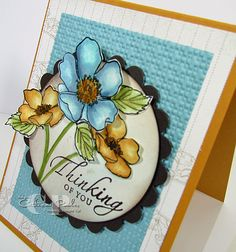 Fabulous Florets Stamp Set Watercolored