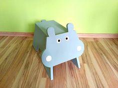 Majsterkowanie z pomysłem: 27. Stołeczek dla dzieci w kształcie hipopotama