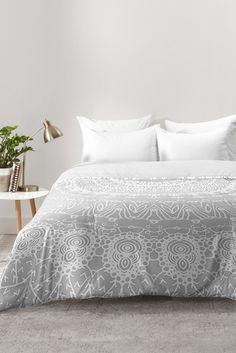 Monika Strigel WAITING FOR YOU GREY Comforter | DENY Designs Home Accessories