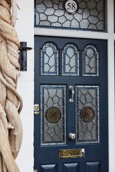 This high-quality, high-specification door has utilised the skills of our finest craftsmen. The stained glass sections have been painstakingly painted by hand – reflecting the artistic and creative nature of the household to which it belongs.