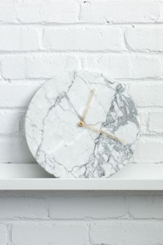 Marble was huge at this year's NY NOW showcase. But before you (and your wallet) freak out, this trend is all about small touches of luxury—think: candleholders, coasters, planters, and ultra-cool clocks like the one shown here (Marble Wall Clock, $142.15; etsy.com).