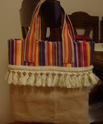 Resultado de imagen de bolsos arpillera