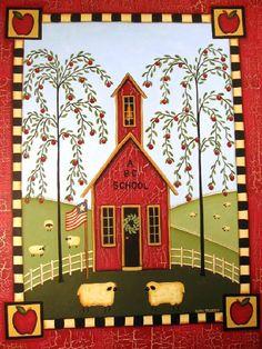 folk art | Kathy Hunter Folk Art Fall Folk & Primitive                                                                                                                                                     More