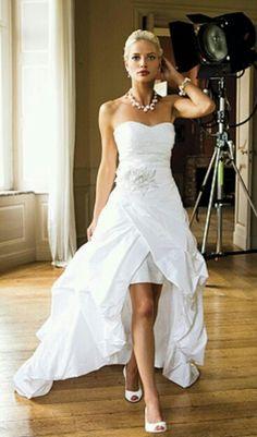 Hi-low wedding gown