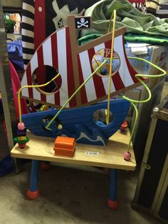 Pirate ship activity center for your little matey!