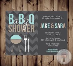 BBQ Baby Shower Invitation bbq shower barbecue baby by T3DesignsCo, $12.99