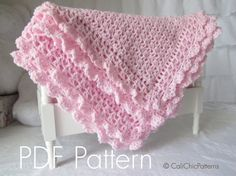 Buy original design crochet baby blanket patterns and easy knitting baby blanket patterns as well as DIY baby accessories like baby booties, baby hats and more for great baby shower gifts and treasured keepsakes you make yourself. Crochet Blanket Patterns, Baby Blanket Crochet, Baby Patterns, Crochet Baby, Crochet Edgings, Crochet Borders, Pdf Patterns, Diy Crochet, Crotchet