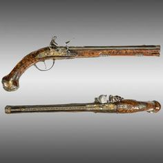 Holster Pistols, Pair of Bohemian Flintlock pistols. Find this and other arms and armor at CuratorsEye.com.