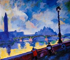Andre Derain  - The Thames, Westminster Bridge