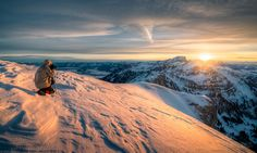 Taking Photo Of Sunset Over The Alpes Photography By: David Kaplan