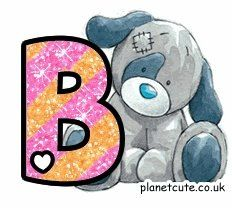 B is for boys / brothers Alphabet Letters Design, Cute Alphabet, Cute Letters, Alphabet And Numbers, Letter Designs, Tatty Teddy, Teddy Bear, Alfabeto Animal, Decoupage