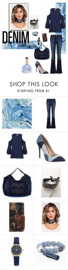 """Denim Days"" by stella-de-luna-fashion ❤ liked on Polyvore featuring 7 For All Mankind, TIBI, ALDO, Chanel, Deepa Gurnani, Patricia Nash, Vivani, Chico's and alldenim"