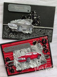 Stampin' Up! geared up garage Masculine Birthday Cards, Birthday Cards For Men, Masculine Cards, Birthday Wishes, Scrapbook Cards, Scrapbooking, Up Auto, Stampin Up Karten, Stamping Up Cards