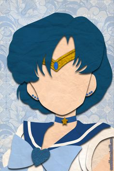 Sailor Mercury (faux papercraft, moonblossom.tumblr.com)