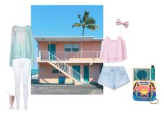 Beachy Cream Motel by thisrandomusername on Polyvore featuring polyvore fashion style Wildfox MANGO Miss Selfridge Sarah's Bag Forever 21 Bumble and bumble clothing