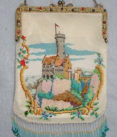 "Castle Scenic Beaded Purse Jeweled Frame ""Lichenstein"" in Germany | eBay"